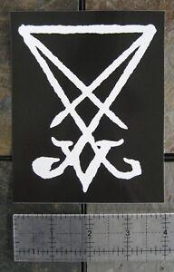 PENTAGRAM VINYL DECAL STICKER CUSTOM SIZE//COLOR MODEL 1 BAPHOMET SIGIL LUCIFER