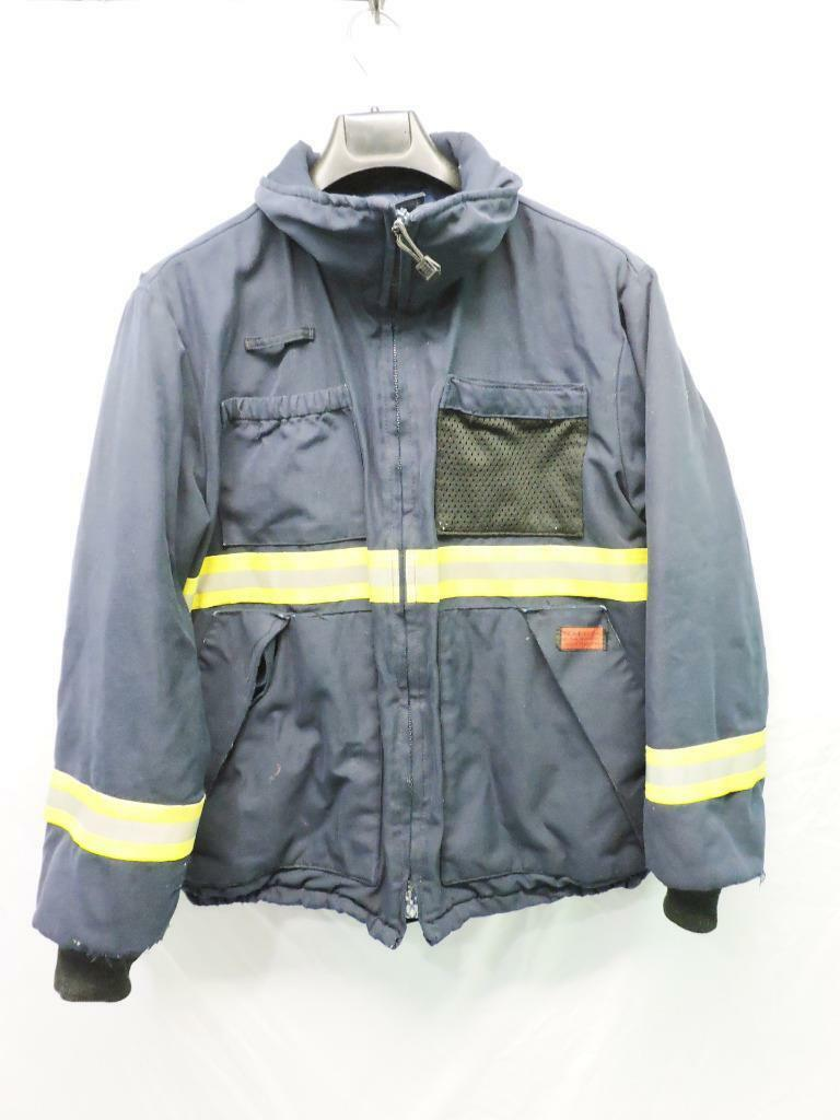 Alaska Actionwear M Nomex Aramid Work Coat Navy bluee FR Reflective Army Navy AK