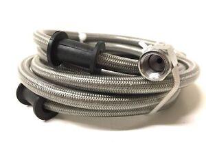 Universal-Stahlflex-Bremsleitung-vorne-120cm-Bremsschlauch-Motorrad-Roller
