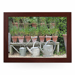Plant-Pots-and-Watering-Cans-Personalised-Padded-Lap-Tray-Laptray-L0204