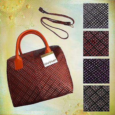 Stylishe Schultertasche Damenhandtasche Umhängetasche Bowling Bag in 6 Farben