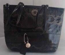 2c560c8e3c item 1 Coach F19198 Stripe Stitched Patent Black Leather Tote Handbag  -Coach F19198 Stripe Stitched Patent Black Leather Tote Handbag