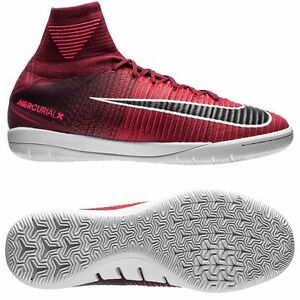 Nike Mercurial X Proximo IC 2017 FlyKnit Indoor Soccer Shoes Red ... bbd65c8d45cd9