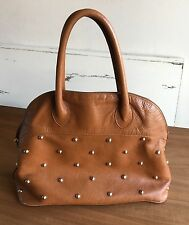 Vintage Furla Handbag Brown Gold Studded Purse Leather