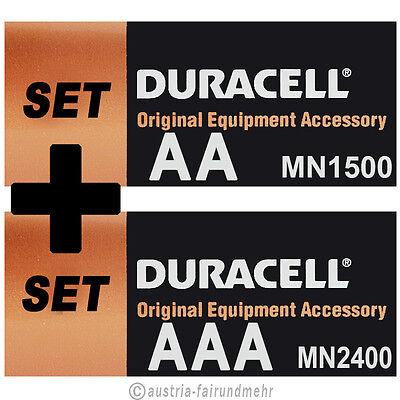 Batterien-SET MIGNON AA LR6 MN1500 + MICRO AAA LR3 MN2400  DURACELL OEM