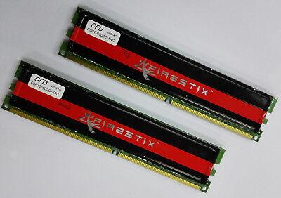 2 x 2GB DDR2 1066MHz Desktop RAM FSH1066D2C-K4G CFD BUFFALO Firestix 4GB