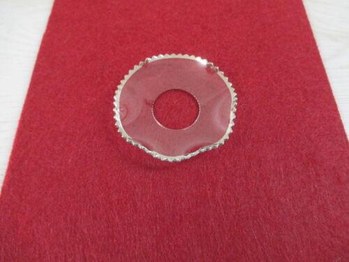 Tropfenfänger Bobeche Glas gewellt Perlrand 70mm für Kerzenständer NEU mehr