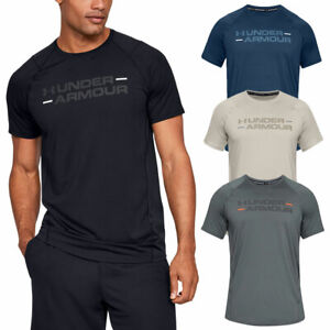cheap for sale variety styles of 2019 discount price Details about Under Armour Mens 2019 MK1 SS Wordmark Training Gym Stretch  HeatGear T-Shirt