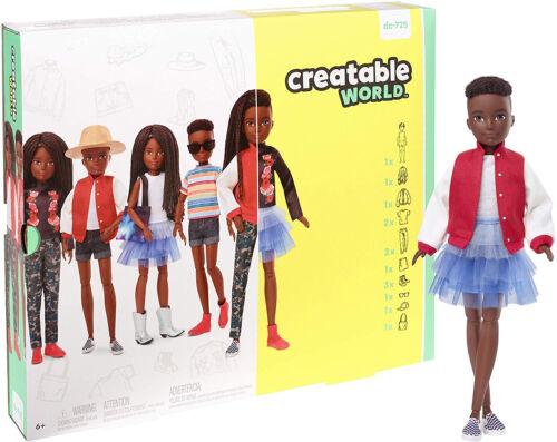 Creatable World Deluxe Character Kit Customizable Doll Black Hair Kid Toy Gift