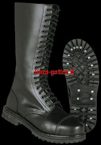 Anfibi stivali 20 buchi punk dark gothic rock punk buchi metal 6220a8