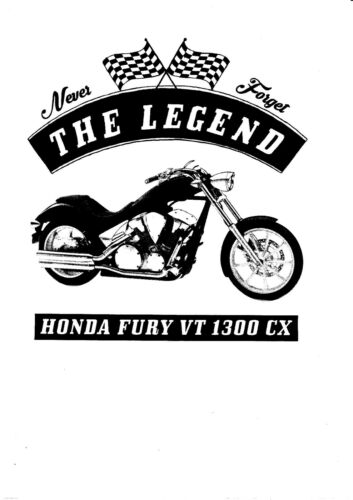 vélo moto YOUNGTIMER Oldtimer T-shirt Honda Fury VT 1300cx