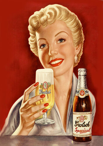 Grolsch beer  vintage advertising  poster reproduction.