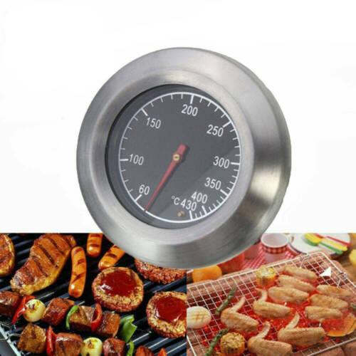 Grillthermometer Edelstahl 60-430℃ BBQ Räucherofen Thermometer Analog Smoker BD#