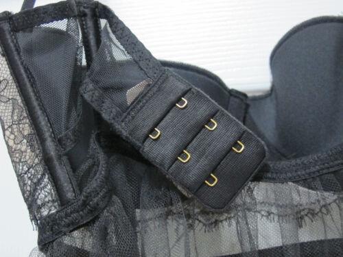 sexy Victoria's S mesh V 34b string Nwt zwarte Babydoll Zeer Secret licht gevoerde wttpaqd