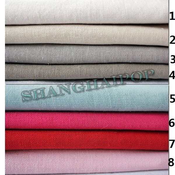 100% Pure Natural Linen Fabric Organic Flax Eco DIY for Ladies Clothes 23 Colors