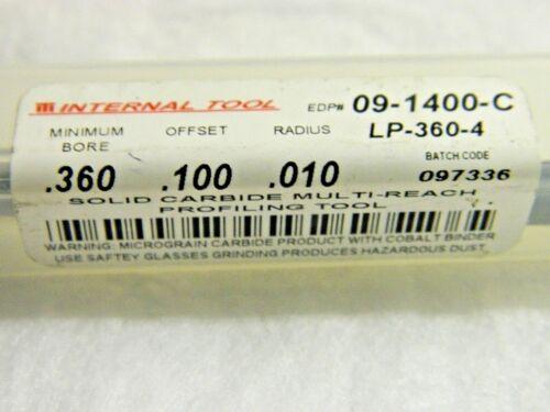 "ITI Multi Reach Profiling Tool Solid Carbide 0.360/"" x 0.100/"" 09-1400-C"