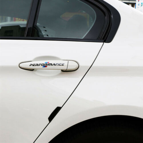 2*14cm 4pcs Black M Sports Decal Car Door Handle Sticker For BMW E60 E90 X5 X6
