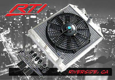 EG EJ EK Honda Civic 92-00 Manuel Transmission M/T Aluminum 2 Row Radiator + Fan