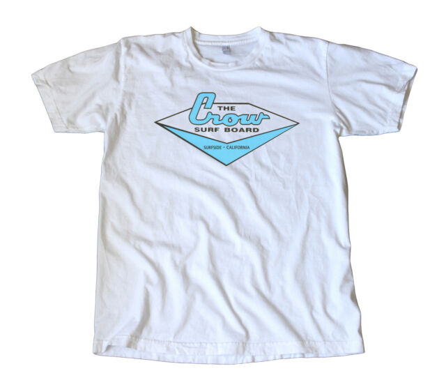 Vintage The Crow Surfboard Decal T-Shirt - Surfside, California, Woodies