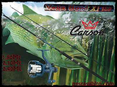 Compiacente Kit Canna Vegabond + Mulinello Ghost + Filo Pesca Spinning Trota Bass Cavedano