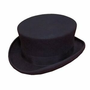 Details about NEW MENS WOMENS LADIES BLACK DRESSAGE RIDING TOP HAT 100%  WOOL SENT BOXED 081ed395802