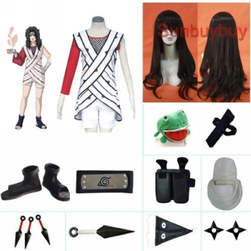 Naruto Yuuhi Kurenai Halloween Cosplay Costume Naruto set with wig