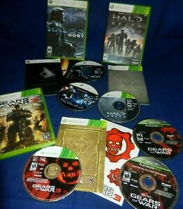 Lot of 4 XBox 360;Halo 3 ODST,Gears Of War-both 2 Disc,Halo Reach,Gears Of War 3