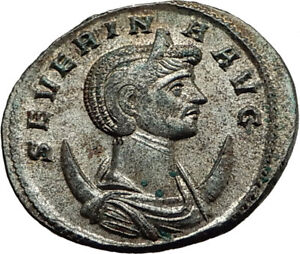 SEVERINA-Aurelian-wife-274AD-Rome-Authentic-Ancient-Roman-Coin-CONCORDIA-i65430