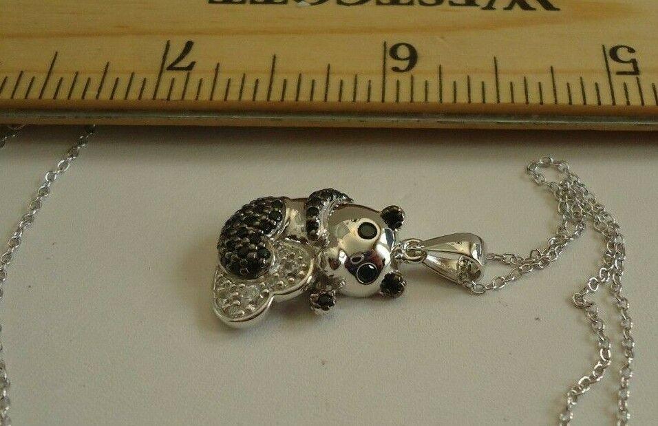 Panda Collana Ciondolo con   Diamante Sintetico Sintetico Sintetico   40.6cm To 18''  b6e97e