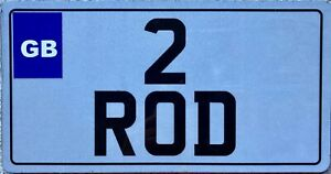 GENUINE-UK-British-Front-Vanity-Personalised-Number-License-Licence-Plate-2-ROD