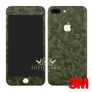 quality design 13fab 3e5cf Details about SopiGuard 3M Army Green Camo Vinyl Skin Full Body Wrap for  Apple iPhone 7 Plus
