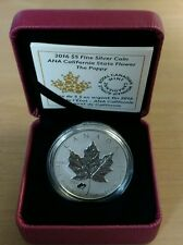1 oz. Pure Silver Coin – ANA California State Flower: The Poppy – Mintage: 6,000