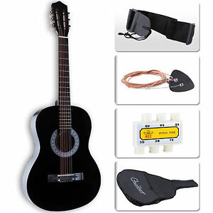 38-034-Beginners-Acoustic-Guitar-with-Guitar-Case-Strap-Tuner-amp-Pick-Steel-Strings