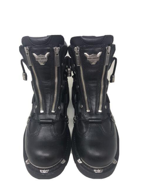 Harley-Davidson Mens Size 10 Brake Light Black Leather -7199
