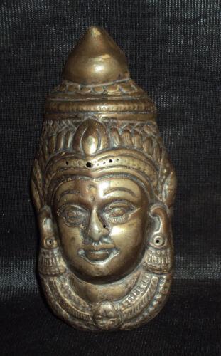 Antique Hindu Traditional Indian Ritual Half Silver Mask of God Shiva
