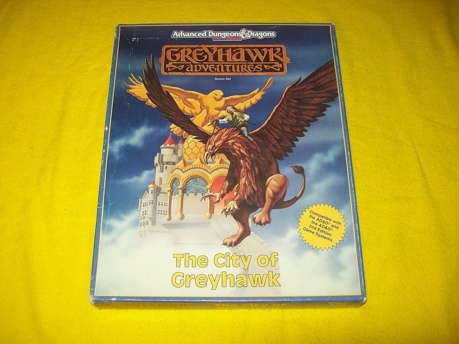 THE CITY OF GREYHAWK ADVENTURES BOX SET SET SET DUNGEONS & DRAGONS AD&D 2ND ED 1043 - 7 434ca7