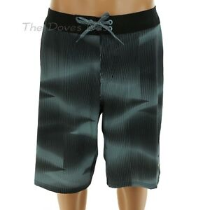 f096bcff05124 NIKE Men's 36 GREEN & BLACK BOARD SHORTS Swim YELLOW SWOOSH ...