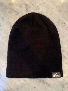 REI Co-op Lightweight Logo Beanie Hat Black