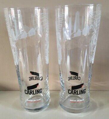 2x CARLING PINT GLASSES