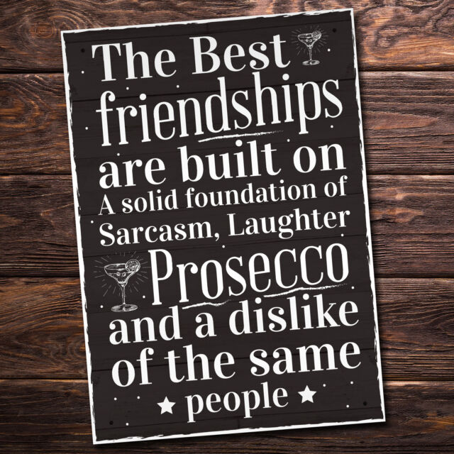 Friendship Sign Best Friend Prosecco Plaque Gifts For Women Her Birthday Present