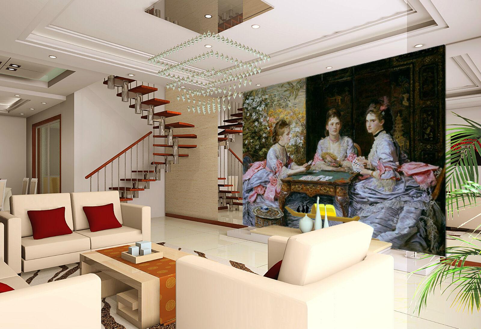 3D 3D 3D Art oil painting Girl WallPaper Print Wall Decal Wall Deco Indoor Wall Murals 45a5ac