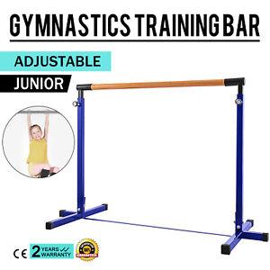 Adjustable-Gymnastics-Junior-Training-Horizontal-Bar-Blue-Equipment-Stable