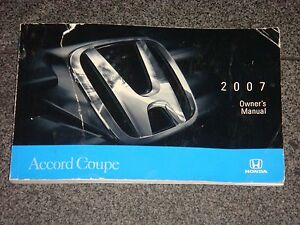 2007 honda accord coupe owners manual ebay rh ebay com 2007 honda accord hybrid owners manual 2007 honda accord 2.4 owners manual