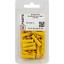 50 Stk Rundsteckhülse 4,0-6,0 mm² 4,0mm Gelb PVC Kabelverbinder Kabelschuhe