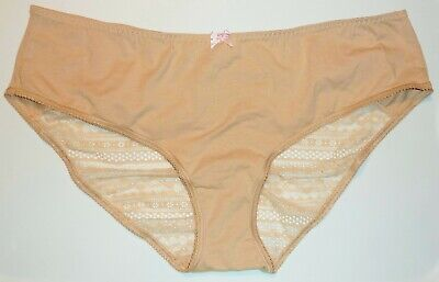 XL Rose Luster Victoria/'s Secret Heart Lace Ruched Hiphugger Panties