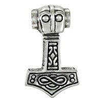 Sterling Silver Thor Hammer Thor's Mjolnir Pendant Norse Asatru Viking Jewelry