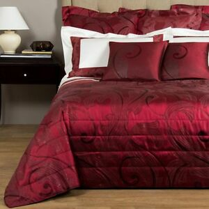 7050 NEW Frette 9 PC LUX SHIMMER Red