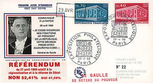 Image Is Loading Eu61 Dg2 Fdc 034 Referendum 1969 Mr Charles