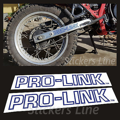 2 Adesivi Forcellone Pro-link Honda Xl 600 Rm 1986/90 Stickers Prolink Xl600rm Aspetto Elegante