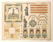 Pellerin Imagerie D'Epinal-No 417 Statue of Liberty vintage grandes paper model